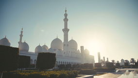 UAE, 2017: The symbol of the Muslim faith and Emirates stock video footage