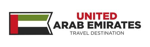 UAE travel destination sign Stock Photo