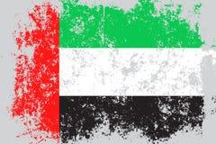UAE,United Arab Emirates grunge, old, scratched style flag Royalty Free Stock Images