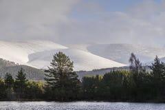 Uath Lochan & Cairngorms in Scotland. Uath Lochan and Cairngorms at Glen Feshie in Scotland Royalty Free Stock Images