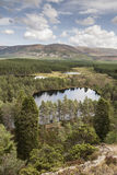 Uath Lochans at Glen Feshie. View over the Uath Lochans in the Cairngorms National Park Stock Image
