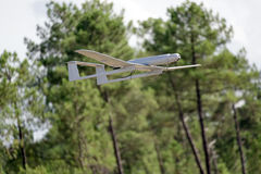 UAV army modern plane. UAV army drone flying for a new mission stock image