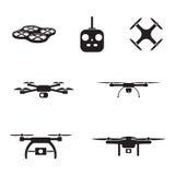 UAV camera icons Stock Images