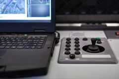 UAV control center. Electronic drone, air stock image