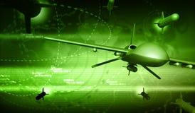 UAV Dronу and Rockets Stock Photo