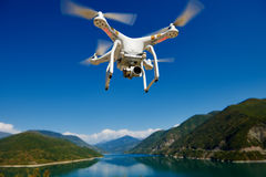 Uav drone with digital camera Royalty Free Stock Photos