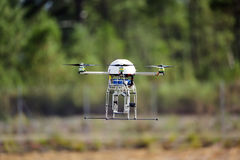 UAV drone flying. For a new spy mission stock images