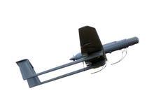 Uav geïsoleerda legervliegtuig Stock Foto's