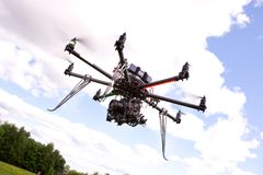 UAV Photography Helicopter stock image