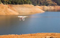 UAV Unmanned Drone Flight Flying Lake Shasta California Royalty Free Stock Image