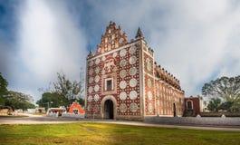 Uayma-Kirche, einzigartige Kolonialarchitektur in Yucatan, Mexiko Lizenzfreies Stockfoto