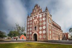 Uayma-Kirche, einzigartige Kolonialarchitektur in Yucatan, Mexiko Stockbild