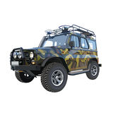 UAZ car SUV camouflage colors Stock Photos