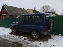 UAZ car tunning Royalty Free Stock Photography