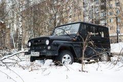UAZ-JÄGER, legendäres russisches Auto nicht für den Straßenverkehr Stockfoto