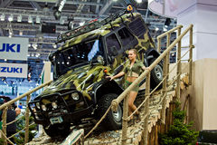 UAZ Patriot presented in Moscow, Russia. Stock Image