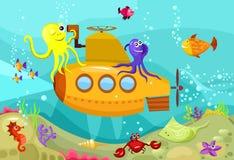 ubåt royaltyfri illustrationer