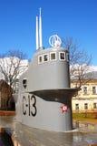 Ubåt C-13 som visas i Kreml i Nizhny Novgorod, Ryssland Arkivfoton