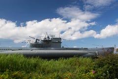 Ubåt i Laboe, Tyskland Royaltyfri Fotografi