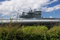Ubåt i Laboe, Tyskland Royaltyfria Bilder