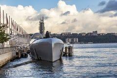 Ubåt på museumpir 86 Arkivbilder