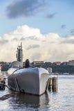 Ubåt på museumpir 86 Royaltyfri Foto