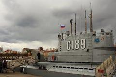 Ubåt som C-189 svävar museet i St Petersburg Royaltyfri Fotografi
