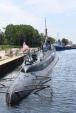 Ubåt USS Silvesides för Förenta staternamarin arkivfoton