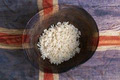 Ubóstwa pojęcie, puchar ryż z Iceland zaznacza Fotografia Stock