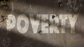 Ubóstwo Pisać na Uszkadzającej ścianie Zdjęcia Stock