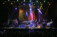 Ub40 reggae band performing live in mallorca stock image