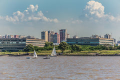 UBA public University, Buenos Aires City from the Rio de la Plat Royalty Free Stock Photography