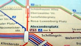 Ubahn översikt av Berlin Royaltyfri Foto