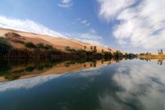 Ubari Oasi, Fezzan, Libyen Lizenzfreie Stockbilder