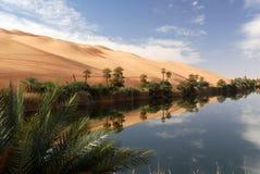 Ubari Oasi, Fezzan, Libyen Lizenzfreie Stockfotos