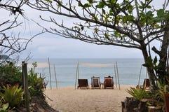 Ubatuba圣保罗巴西的海滩状态 免版税库存照片