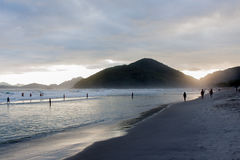 Ubatuba海滩 免版税库存照片