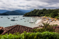 Ubatuba海滩 库存图片