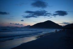Ubatuba plaża Zdjęcie Stock