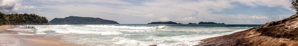 Ubatuba plaża Obrazy Royalty Free