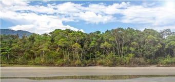 Ubatuba plaża Zdjęcia Stock