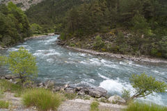 Ubaye river, French Alps Stock Photo
