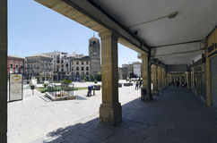 Ubeda. JAEN PROVINCE, SPAIN - APRIL 16, 2013: Arcades of the Plaza de Andalucia, in , Jaen Province, Spain Stock Images