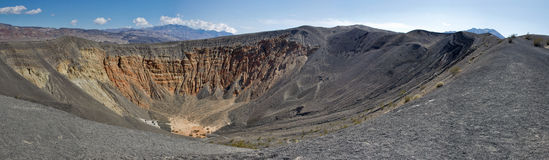 Ubehebe Crater. Royalty Free Stock Images