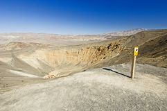 Ubehebe Crater Stock Image