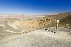 Ubehebe Krater stockbild