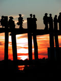 ubein пейзажа моста Стоковые Фото