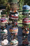 Ubek hats in a bazaar Stock Photography