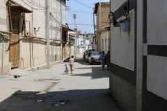 Ubekistan,撒马而罕街道 库存照片