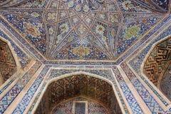 Ubekistan,撒马而罕马赛克 库存图片